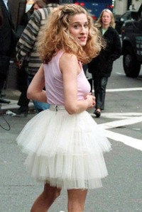 Carrie Bradshaw in her famous tutu