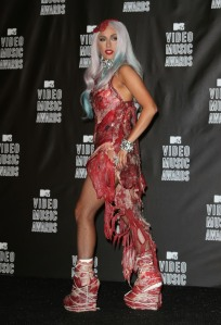 The meat dress....a political statement...or positive atrocity?