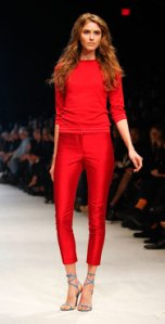 fabulous red cropped pants