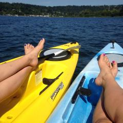 kayaking in the sun