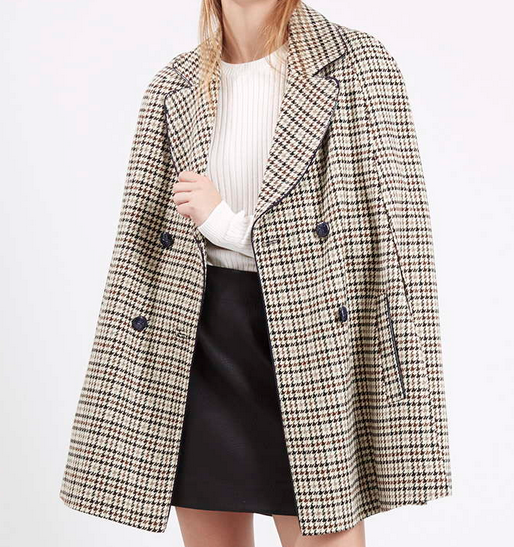 Heritage Check Cape. Topshop $95